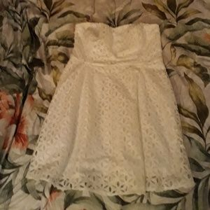 Dresses & Skirts - White strapless dress